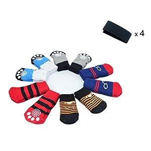 LFPET Traction Control Cotton Socks Indoor Dog Nonskid Knit Socks 5 Pairs Random Color 74