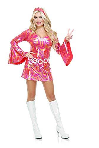 Charades Women's Disco Diva Hot Fuchsia Swirl, As As Shown, -
