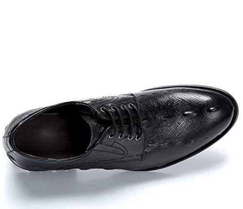 Traspiranti Affari in Cuoio Pelle Scarpe Autunno da Black di Uomini Indossare Scarpe dnqfxaZdw8