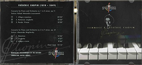 Price comparison product image MONTBLANC PHILARMONIA OF THE NATIONS - JUSTUS FRANTZ / HOMMAGE A FREDERIC CHOPIN (CD)