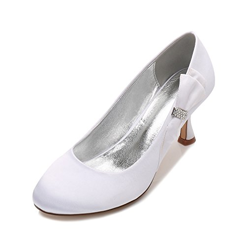 scarpe parti poco di con che Bianco Qingchunhuangtang Scarpe tonda le l'Ufficio Moda testa Donna dell'High nozze Bocca Scarpe scarpe Heel a sono profonde traliccio state per 5OSOq