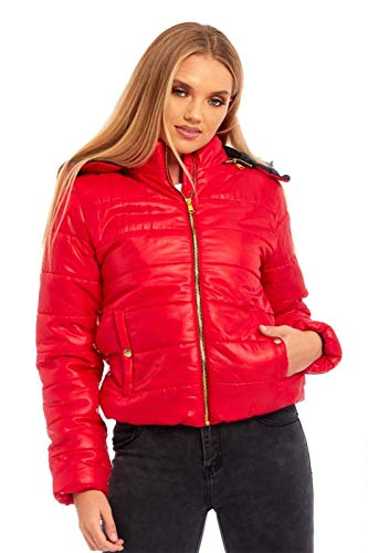 Femme Manches Noir Medium Blouson Longues Janisramone Red q4xFSw