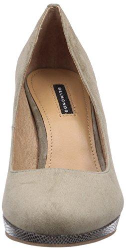 Belmondo 70304601 - zapatos de tacón cerrados de cuero mujer gris - gris