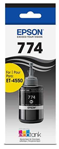 Epson T774120-S EcoTank Pigment Black Ink Bottle (Pigment Ink Refill Bottles)