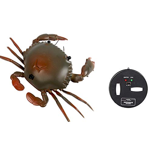 Clearance Sale!DEESEE(TM)Infrared Remote Control Realistic Mini Crab RC Prank Insect Scary Trick Toy (Green) -