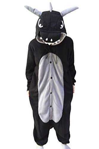 WOTOGOLD Animal Cosplay Costume Unisex Adult Dragon Pajamas With Horn (Dragon Hoodie Costume)