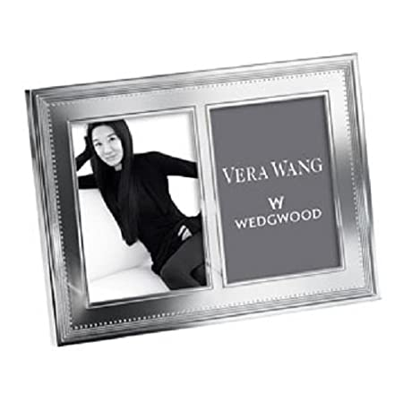 Vera Wang by Wedgwood - Grosgrain Silver Double Photo Frame 5×7 ...