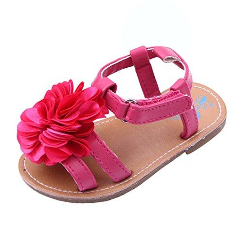 Beeliss Baby Girls Sandals Anti-Slip Rubber Sole Summer Flowers Shoes