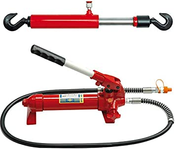Handpumpe Hydraulik Zugzylinder Für Richtsatz 10 Tonnen Baumarkt