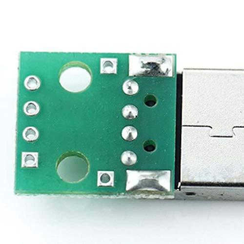 5 unids USB a Dip Adaptador Convertidor 4 Pines para 2.54mm PCB Junta DIY Fuente de alimentaci/ón Materiales respetuosos del Medio Ambiente