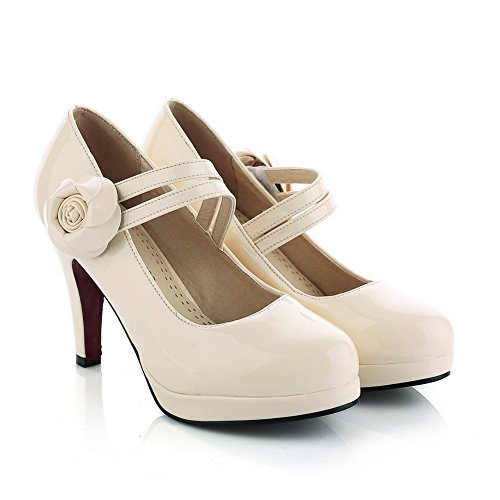 balamasa Mesdames Baskets Dessus High-Heels imitation cuir pumps-shoes Beige Ney1jnZ3S