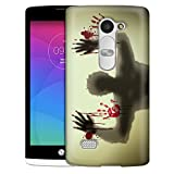 LG Leon Case, Slim Snap On Cover Zombie Under Glass Case