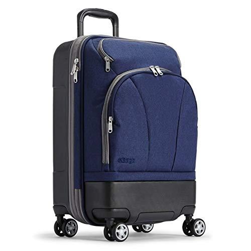 eBags TLS Hybrid Spinner Carry-on (Brushed Indigo) (Expandable Wheeled Suitcase)