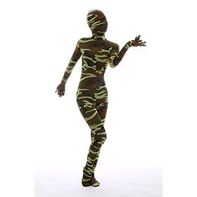 - 41k7I9hWPJL - Nedal Women's Camouflage Zentai Lycra Bodysuit Spandex Halloween Onesie
