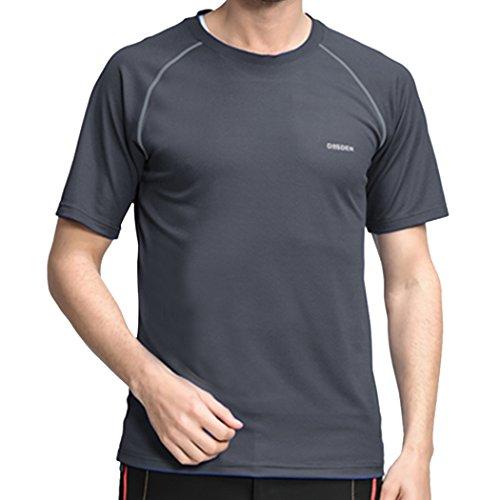 M-LORD (TM) Mens Outdoor Running Short Sleeve Crew-neck Top T-shirt Sport Jersey Size US XS Grey