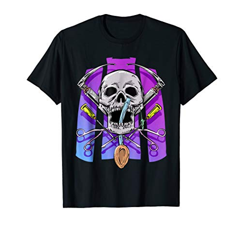 - Anesthesia Halloween or Dia De Los Muertos Medical Shirt
