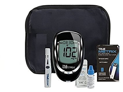 True Metrix Blood Glucose Monitoring System Complete Kit Inc