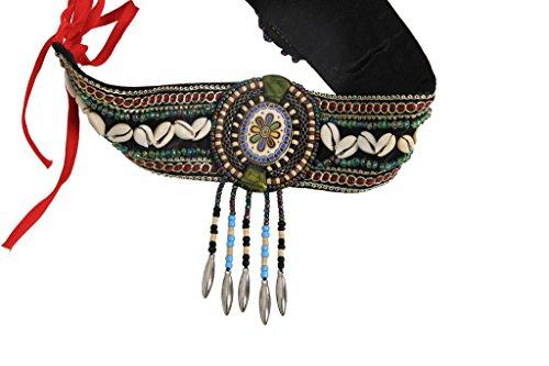 Tribal Dancing Belly (GUILTY BEAUTY Natural Shells Headband Armband Bracelet,Dance Costume Accessories)