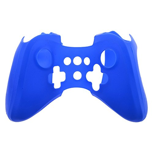 Soft Silicon Cover Case Skin Pouch Sleeve for Nintendo Wii U Game Controller Blue