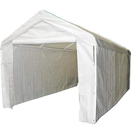 - Domain Caravan Canopy 10' X 20 Carport Garage with Sidewall Enclosure Kit