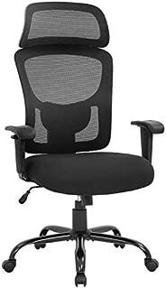 BestOffice 400lbs Wide Seat Executive Desk Lumbar Support Adjustable Armrest Ergonomic Headrest High Back Mesh