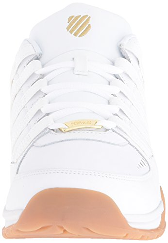 K-Swiss Herren Baxter Low-Top Weiß (White/Gold/Gum)