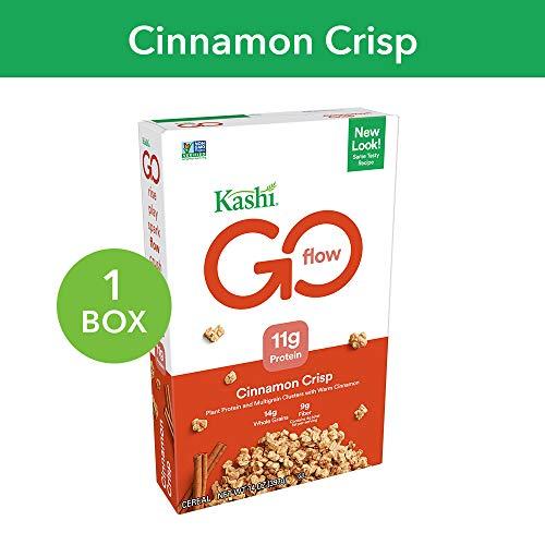 - Kashi GO Cinnamon Crisp Breakfast Cereal - Non-GMO   Vegan   14 Oz Box