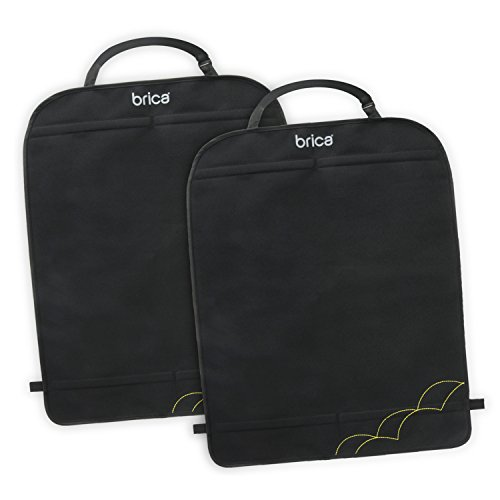 Munchkin Brica Deluxe Kick Mats Car Seat Protector, Black, 2 Pack