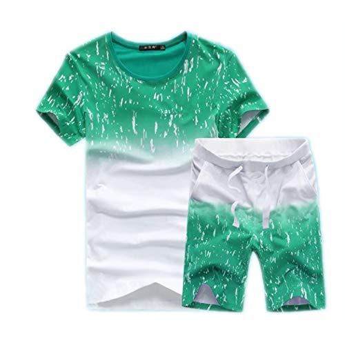 Men's Casual 2 Piece Outfits Camouflage Short Sleeve Crewneck Shirt& Shorts Jumpsuit - Mens Clothing Designer