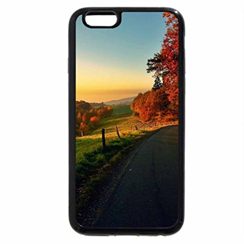 iPhone 6S / iPhone 6 Case (Black) dawn on a beautiful country road hdr