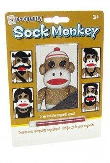 Sock Monkey Magnets - TinFun Sock Monkey Magic Magnet Hair-Sock Monkeys