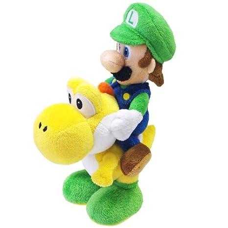 Plush Figure Luigi on Yoshi 22 cm
