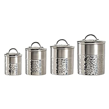 Amici Vanderbilt Collection Canisters, Stainless Steel - Set of 4