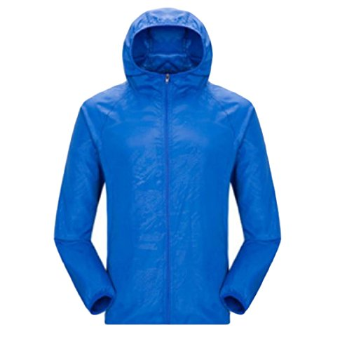 Jacket AGAING Coat Blue Sunscreen Men Casual Hooded Thin Fashion Pure Color Royal wz1qwFT