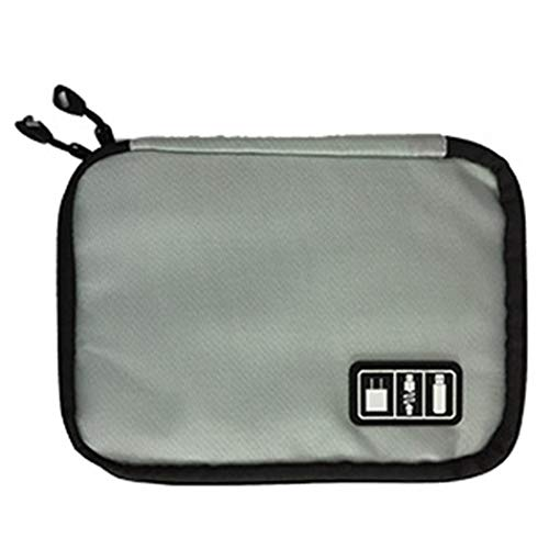 Travel Electronics Organizer, Multi-Functional Waterproof Electronic Accessories Storage Bag for Cellphone, Hard Drives, Charging Cords, USB Charger (Radio Shack Portable Power Bank Not Charging)