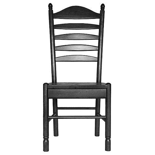 Carolina Cottage Antique Black Whitman Dining Chair