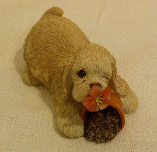 Sandicast Vintage 1990 Dog Figurine Cocker Spaniel B04 Handcrafted Made in USA