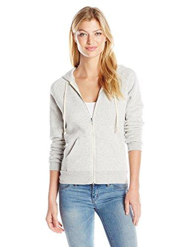 Alternative Women's Adrian Fleece Zip Front Hoodie Sweatshirt, Eco Oatmeal, X-Small