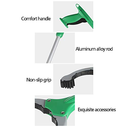 ZDYLM-Y Long Grabber Reacher with Magnet Long Handle Aluminum Alloy Rotatable Environmentally Friendly Picker, Suitable for Garden, Household Picking by ZDYLM-Y (Image #2)