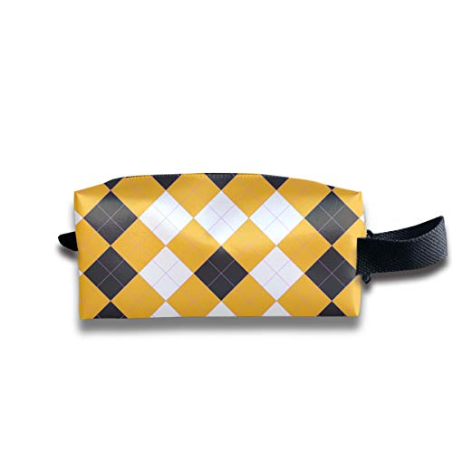 WAY.MAY Argyle Style Storage Bag Tote-Handbags Cosmetic Pouch Portable Travel Makeup Tote Bag Pen Case Bag Space Saver Bags Medicine Package Sewing Kit