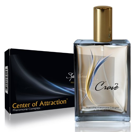 'CENTER OF ATTRACTION' Masculine Pheromone Cologne with the 'CRAVE' Fragrance From SpellboundRX - The Intelligent Pheromone Choice