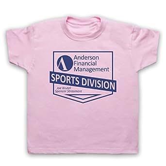 Ballers Anderson Financial Management Camiseta para Niños, Rosa Claro, 12-13 Años