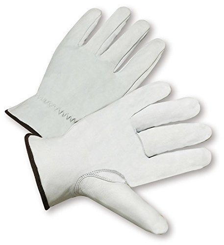 Goatskin Leather Driver (West Chester 991K White XL Grain Goatskin Leather Driver's Gloves - Keystone Thumb - 10 in Length - 991K/XL [PRICE is per DOZEN])