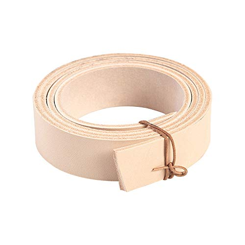 "WUTA Veg Tanned Leather Handmade Belt Blank Cowhide Strip Genuine Leather Belt Strip DIY Gift Belt 38mm (1.5"") Width,Natural"