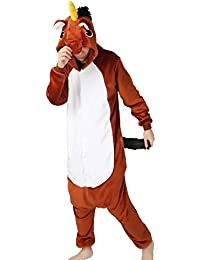 Adult Onesie Unicorn For Women Men Pajamas Animal Cosplay Halloween Costume Cute Sleepwear
