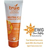 True Natural SPF 50 Sunscreen, NEUTRAL / Unscented, Broad Spectrum