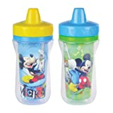 The First Years Disney Mickey Mouse Insulated, 9-Ounce Sippy Cup, 2-Pack