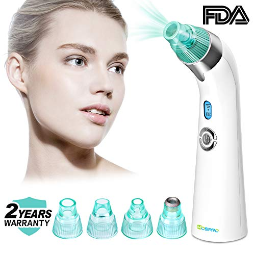 Blackhead Remover Vacuum Pore Cleaner - 2018 Upgraded USB Rechargeable Acne Comedone Extractor Tool Exfoliating Machine with 5 Adjustable Suction Power and 3 Replacement Probes