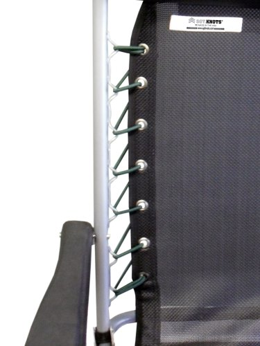 Chair Lace Replacement Kit - SGT KNOTS - Zero Gravity Universal Chair Lace - Ultra-Premium Nylon Bungee Cord - Stretch and Shock Absorption - Weather, Moisture, Abrasion Resistant (Emerald (Resistant Kit)