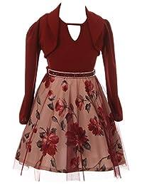 BNY Corner 3 Pieces Tank Top Dress Jacket Graduation Flower Girl Dress USA